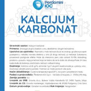 deklaracija kalcijum karbonat